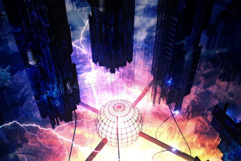 Central eléctrica libre illustration