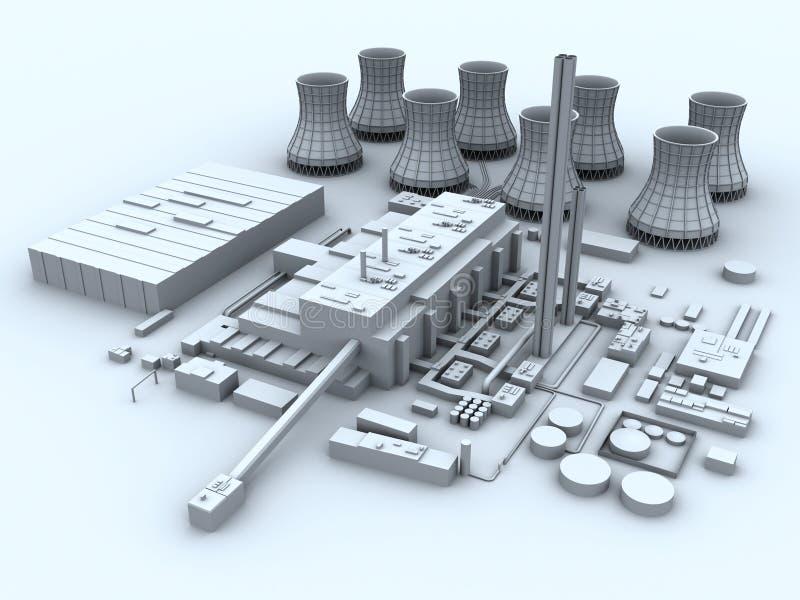 Central eléctrica ilustración del vector