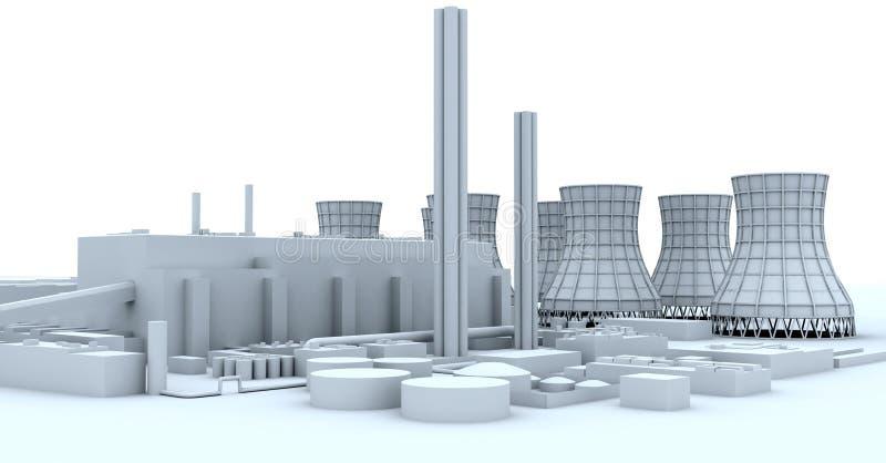 Central eléctrica ilustração stock