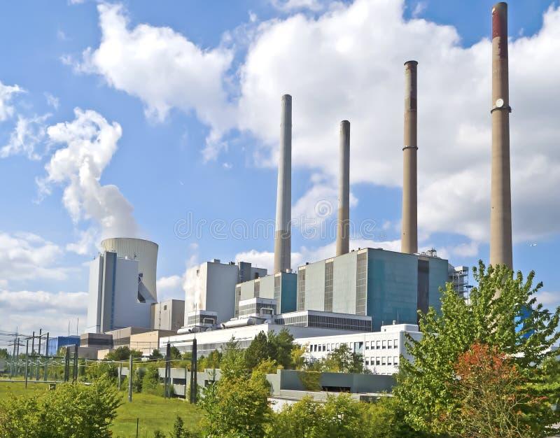 Central eléctrica alemana del combustible fósil imagen de archivo libre de regalías
