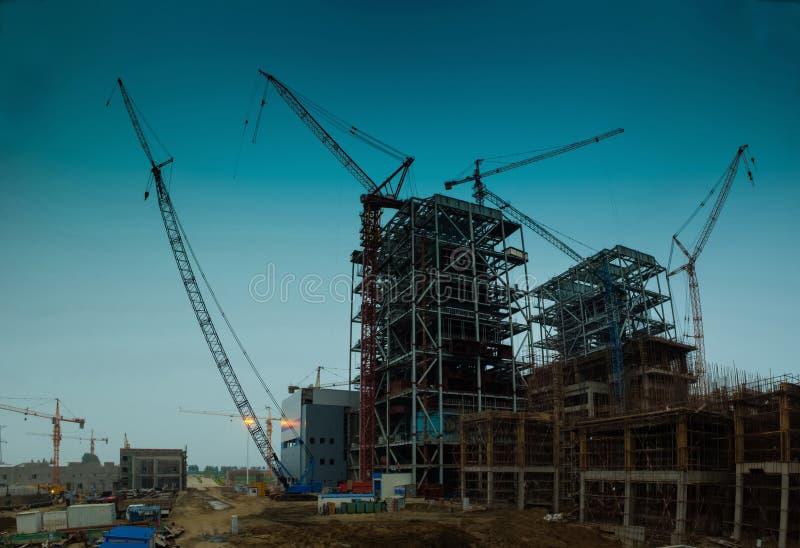 Central eléctrica bajo construcción fotografía de archivo libre de regalías