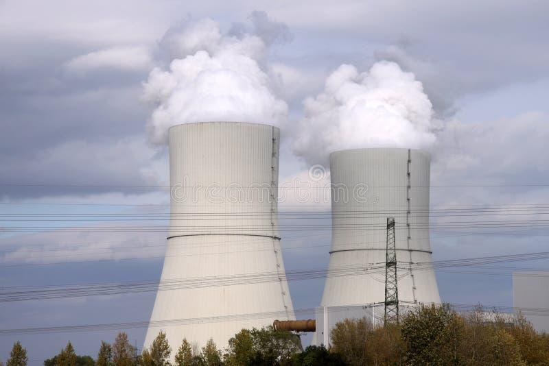 Central eléctrica con carbón fotos de archivo libres de regalías