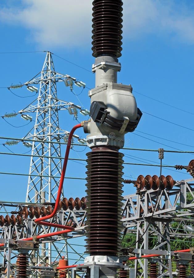 Central eléctrica con las vigas del cedazo foto de archivo libre de regalías