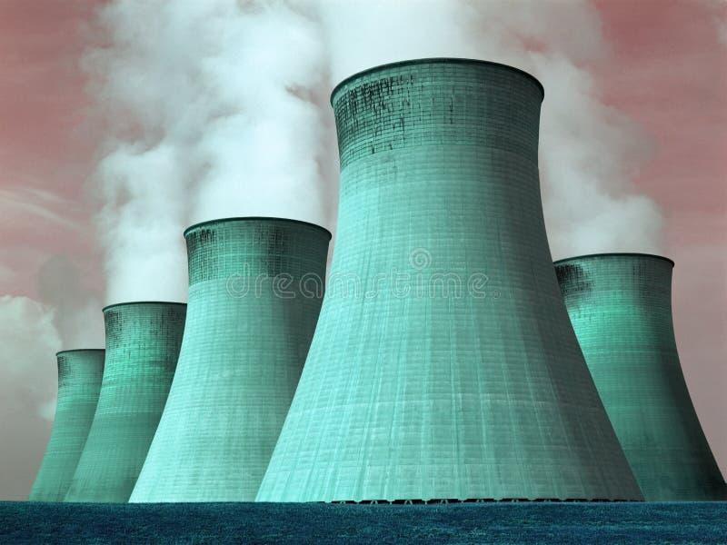 Central eléctrica - contaminación - ambiente foto de archivo libre de regalías