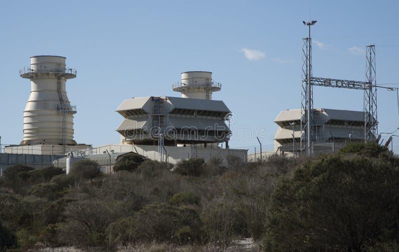 Central eléctrica de Ankerlig en la Atlántida Suráfrica imagen de archivo libre de regalías