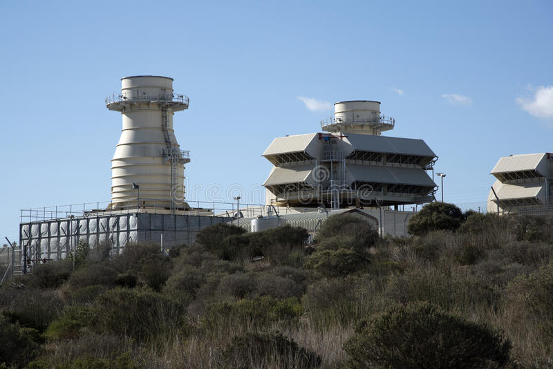 Central eléctrica de Ankerlig la Atlántida Suráfrica imagenes de archivo