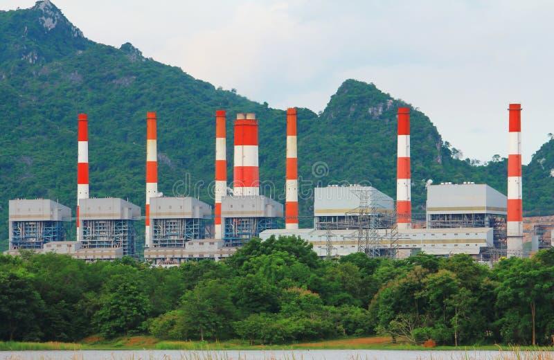 Central eléctrica de carbón. imagen de archivo libre de regalías