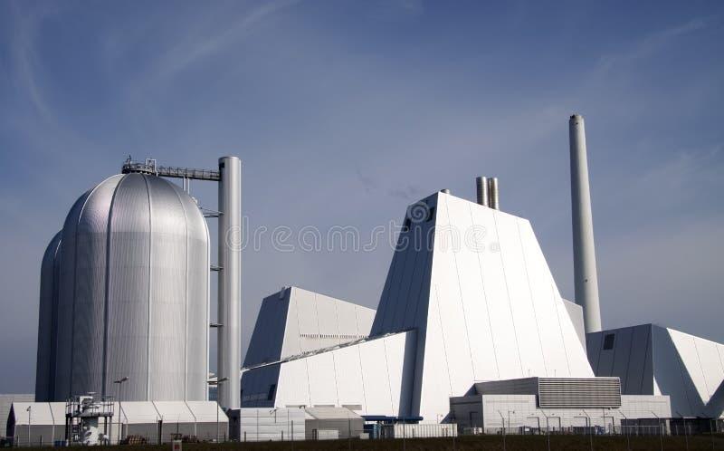 Central eléctrica de carbón grande imagen de archivo libre de regalías