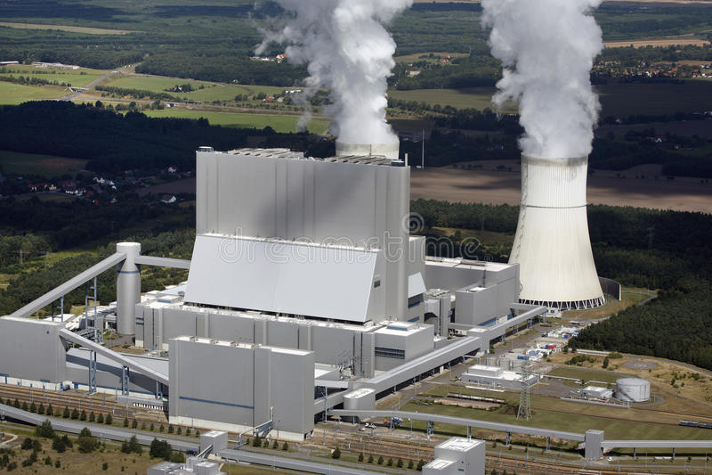 Central eléctrica de carvão imagem de stock
