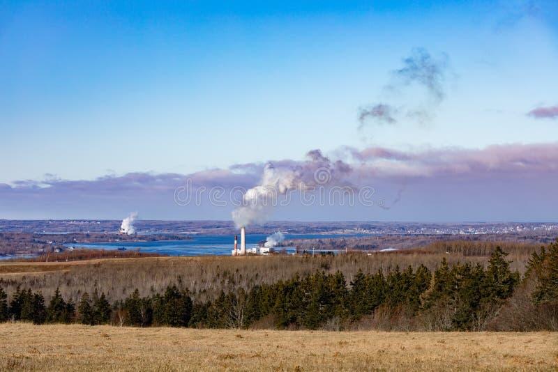 Central eléctrica de energía del carbón el condado de Pictou Nova Scotia fotos de archivo libres de regalías