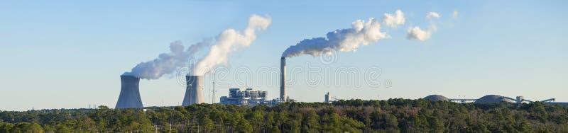 Central eléctrica de energía del carbón en la Florida imagen de archivo libre de regalías