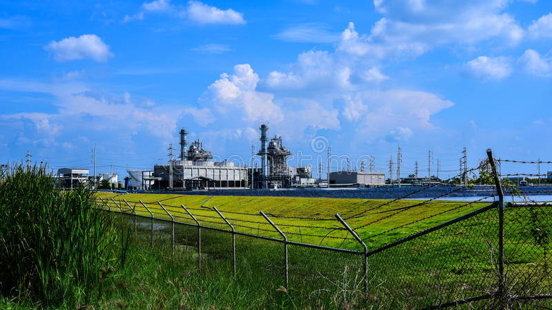 Central eléctrica de la biomasa fotos de archivo libres de regalías