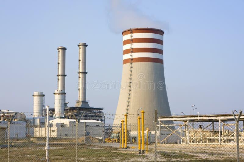 Central eléctrica de la electricidad imagenes de archivo
