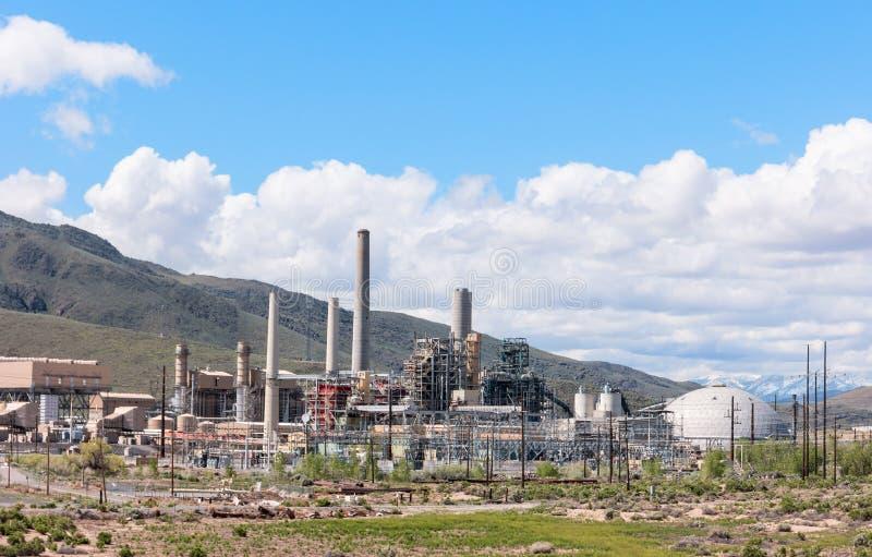 Central eléctrica de la electricidad fotografía de archivo
