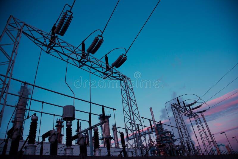 Central eléctrica de la energía imagen de archivo