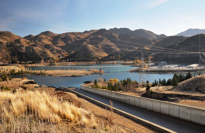 Central eléctrica de la presa de Benmore, Otago Nueva Zelandia imagen de archivo libre de regalías