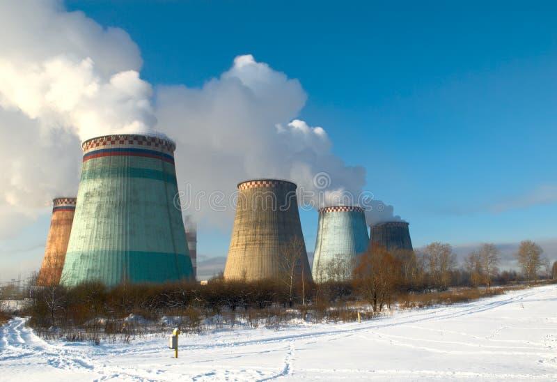Central eléctrica de vapor fotos de archivo