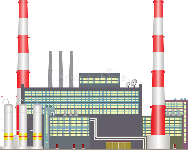 Central eléctrica del calor. libre illustration