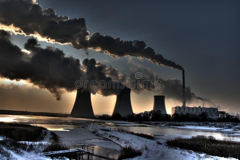 Central eléctrica del carbón fotografía de archivo