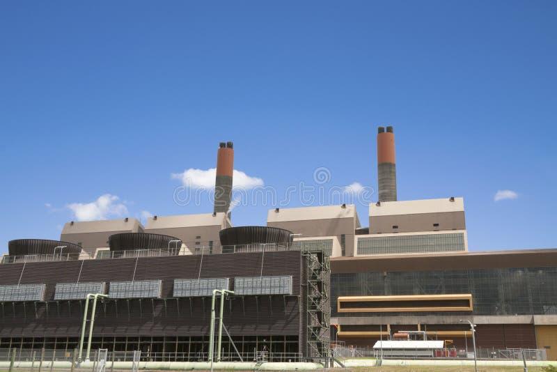 Central eléctrica del gas imágenes de archivo libres de regalías