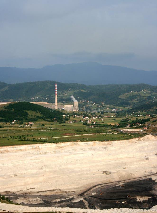 Central eléctrica en Pljevlja fotos de archivo libres de regalías