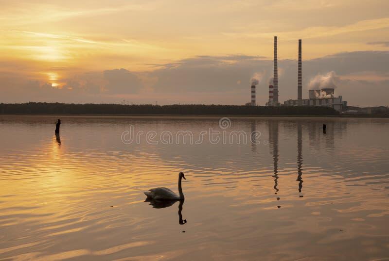 Central eléctrica en Rybnik fotos de archivo