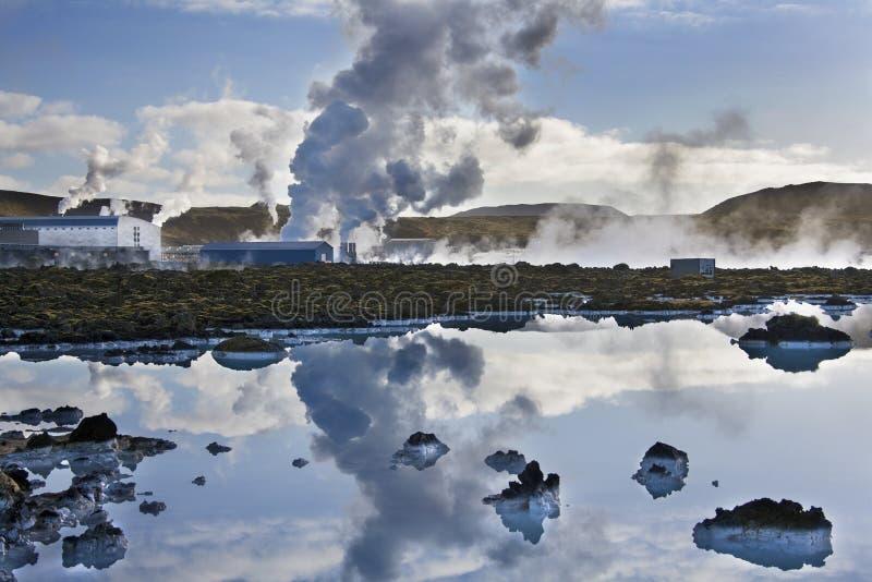 Central eléctrica geotérmica de Svartsengi - Islandia imagen de archivo