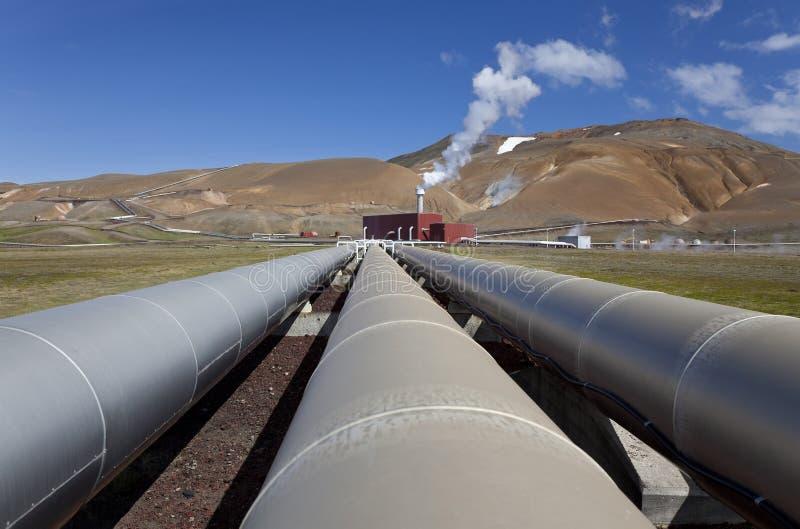 Central eléctrica Geothermal em Islândia foto de stock royalty free