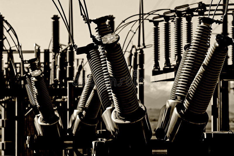 Central eléctrica - Grunge urbano foto de stock royalty free