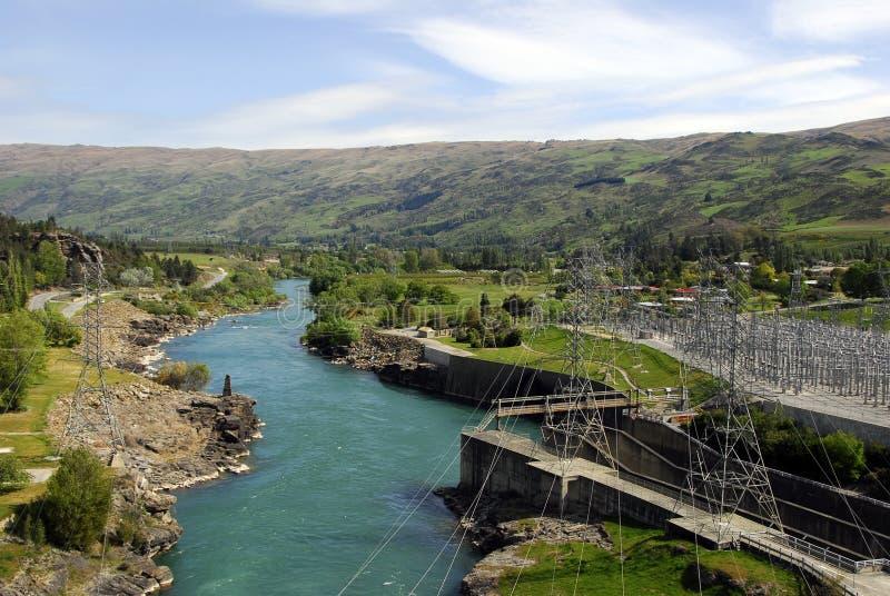 Central eléctrica hidráulica de Nueva Zelandia fotos de archivo