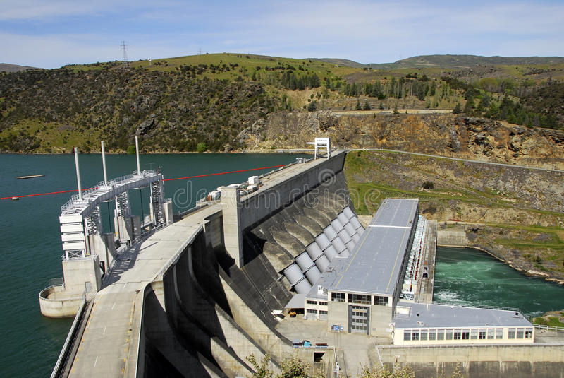 Central eléctrica hidráulica de Nueva Zelandia foto de archivo libre de regalías