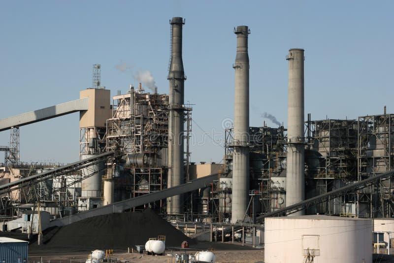 Central eléctrica industrial foto de archivo