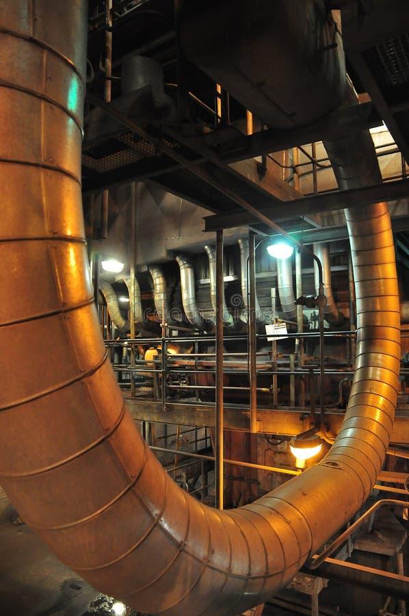 Central eléctrica interior imágenes de archivo libres de regalías