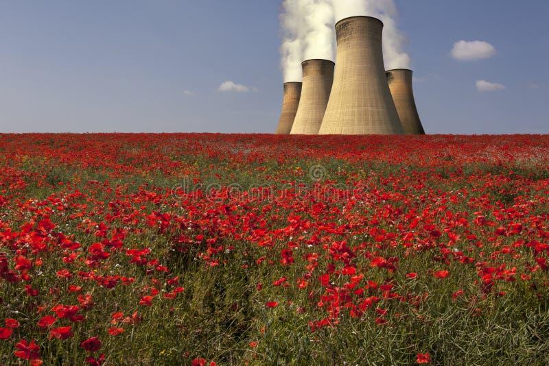 Central eléctrica - Lincolnshire - Inglaterra fotos de archivo libres de regalías