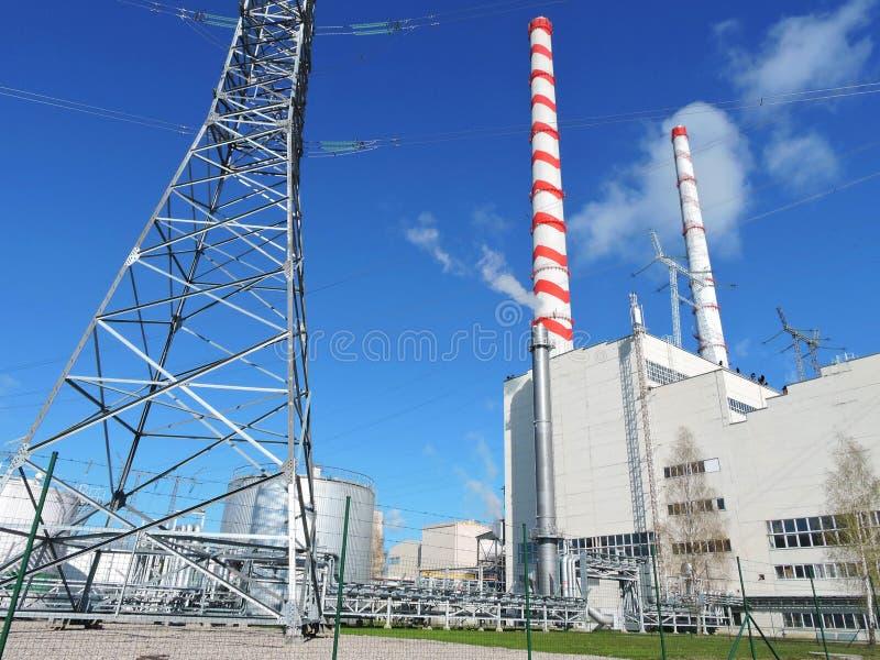 Central eléctrica, Lituania fotos de archivo