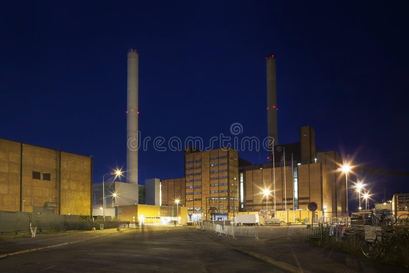 Central eléctrica moderna de Helsinki, Finlandia imágenes de archivo libres de regalías