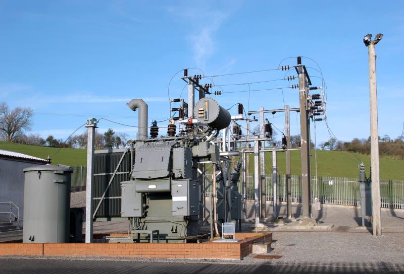 Central eléctrica secundária elétrica imagem de stock royalty free
