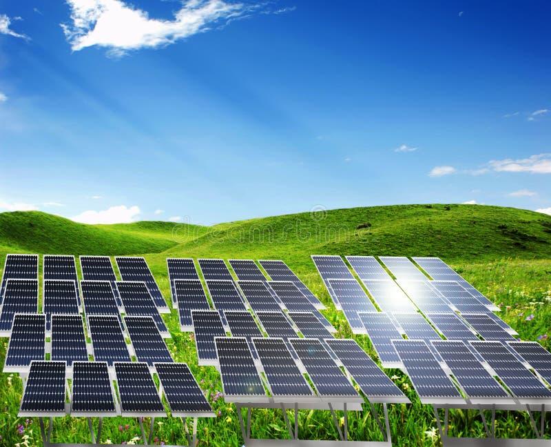 Central eléctrica solar foto de stock