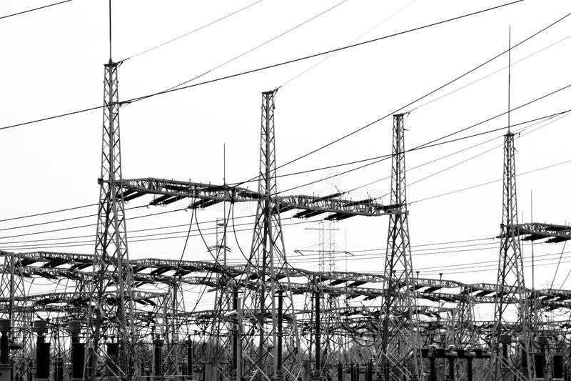 Central elétrica fotografia de stock royalty free