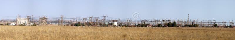 Central elétrica da eletricidade, África do Sul imagens de stock