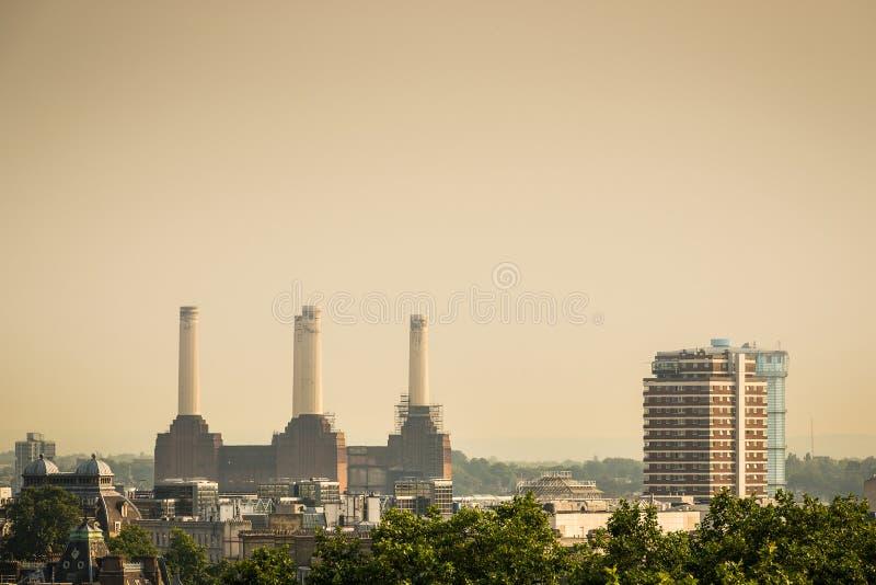 Central elétrica de Battersea em Londres fotografia de stock