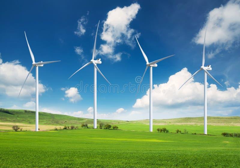 Central elétrica de energias eólicas foto de stock royalty free