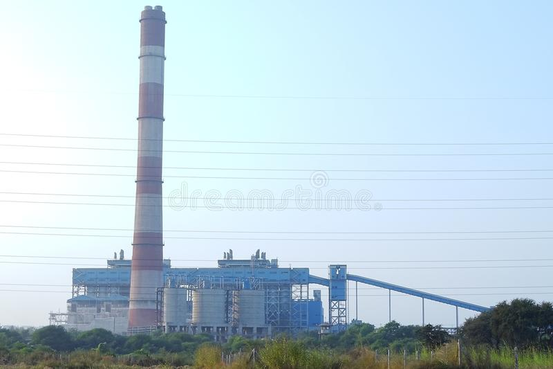 Central elétrica de NSPCL Bhilai, Bhilai Chhattishgarh foto de stock