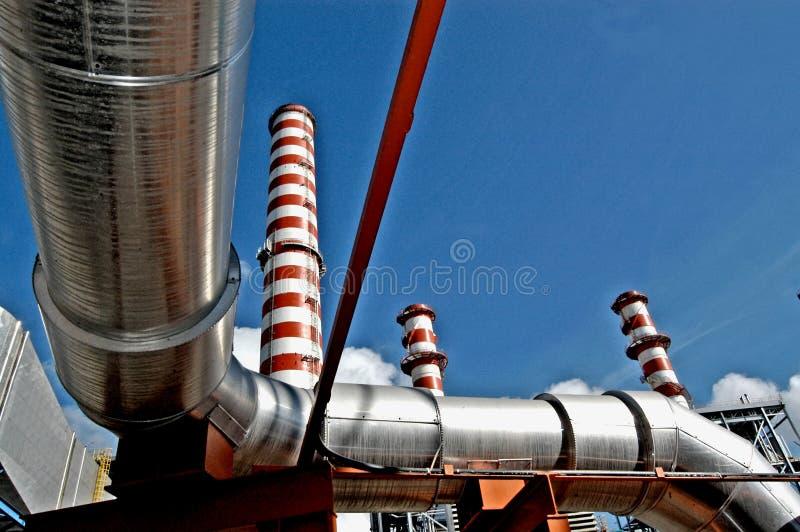 Central elétrica de Turbogas imagens de stock