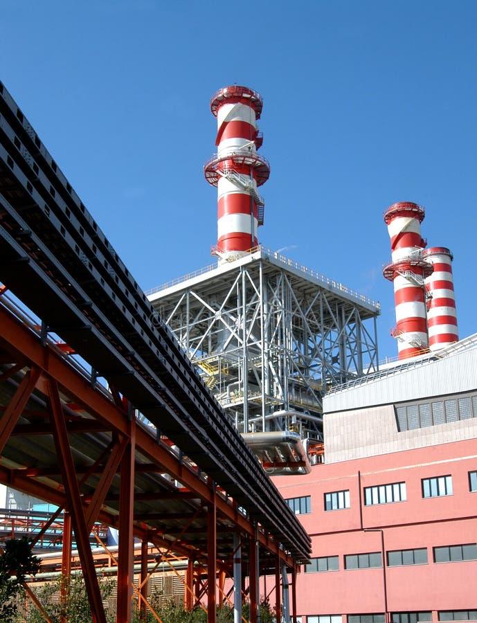 Central elétrica de Turbogas fotografia de stock