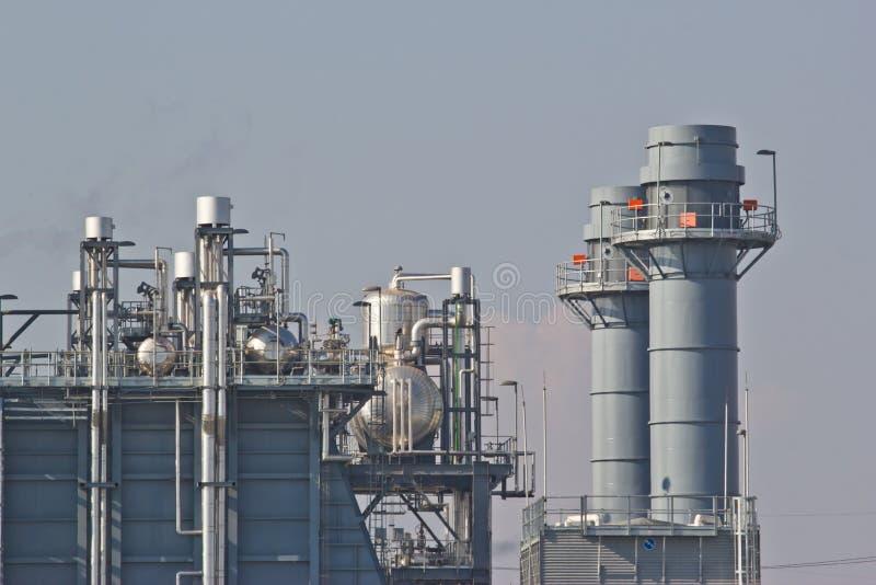 Central elétrica do ciclo combinado de gás natural foto de stock royalty free