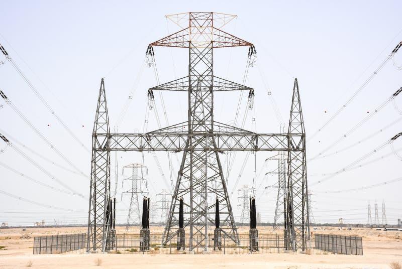 Central elétrica em Kuwait fotos de stock royalty free