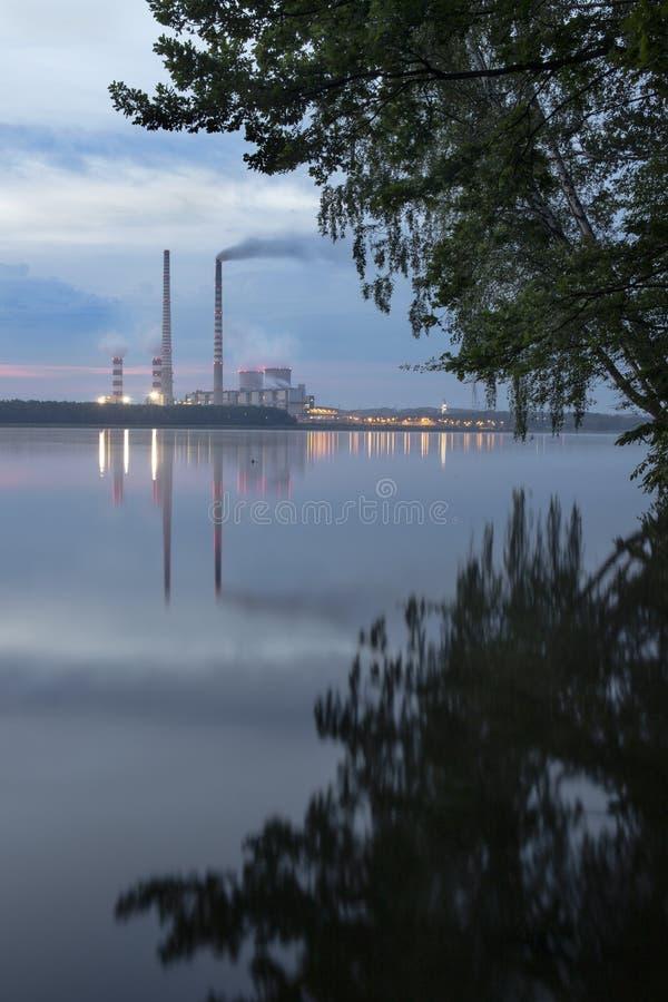 Central elétrica em Rybnik imagem de stock