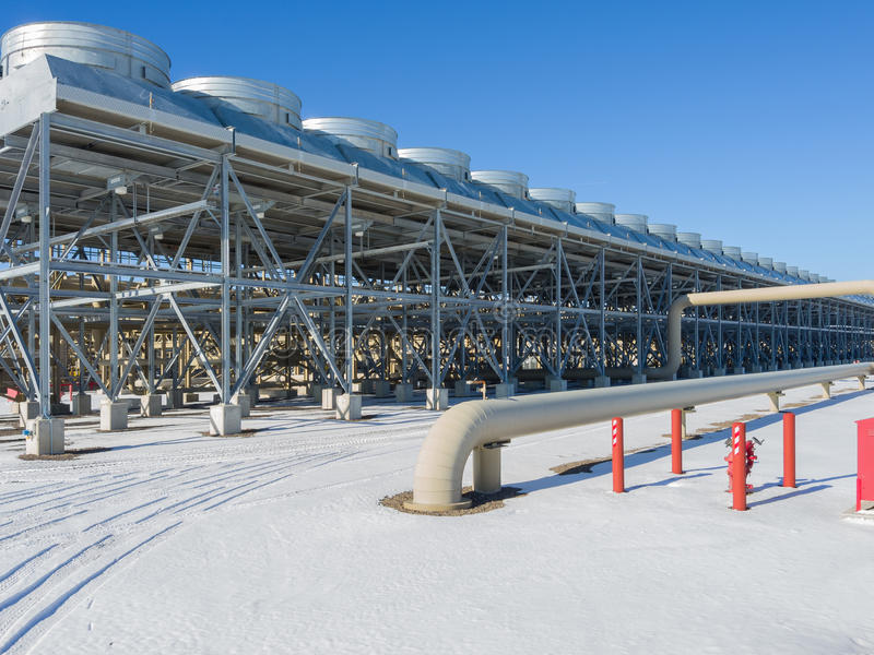 Central elétrica geotérmica foto de stock