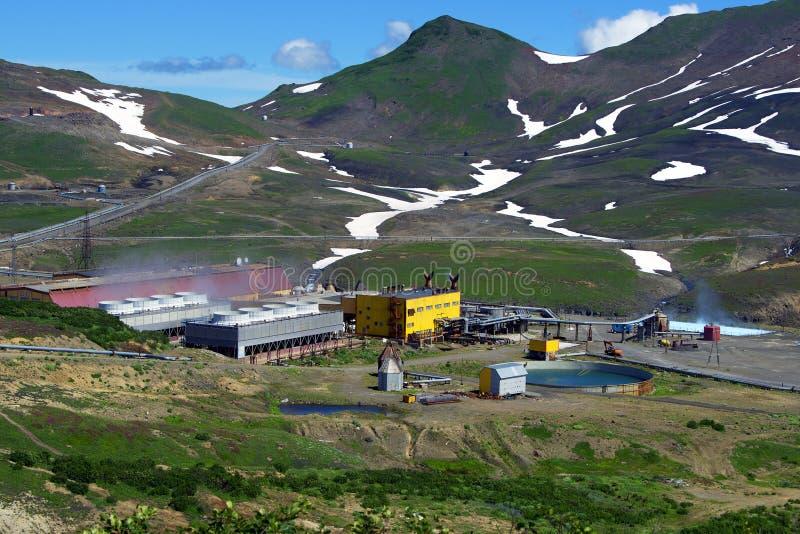 Central elétrica geotérmica fotos de stock royalty free
